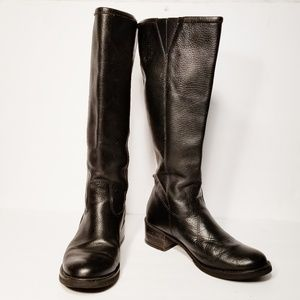 Lucky Brand Heston Black Leather Boots Size 7.5